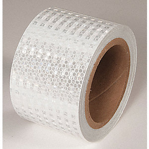 REFLECTIVE TAPE,WHT,30FT L X 3IN W,SOLID