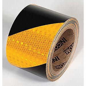 TAPE,YELLOW/BLACK,30 FT. L X 3 IN. W