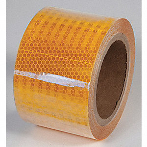 REFLECTIVE TAPE,YELLOW,30 FT L X 4 IN W