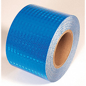 REFLECTIVE TAPE,BLUE,30 FT. L X 4 IN. W