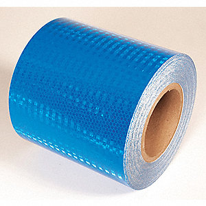 REFLECTIVE TAPE,BLUE,30 FT. L X 6 IN. W