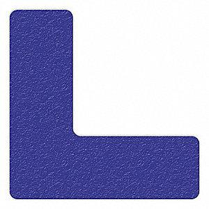 MARKER,BLUE,6IN L X 6IN W,L SHAPE,PK25