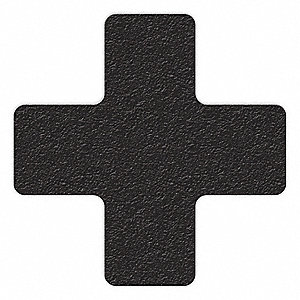 MARKER,BLACK,6IN L X 6IN W,CROSS,PK25