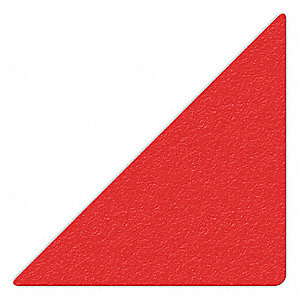 MARKER,RED,6IN L X 6IN W,TRIANGLE,PK25