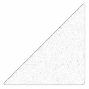 MARKER,WHITE,6IN L X 6IN W,TRIANGLE,PK25