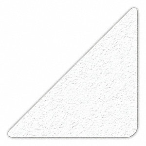 MARKER,WHITE,3IN L X 3IN W,TRIANGLE,PK25