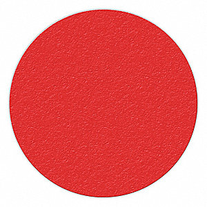 MARKER,RED,6IN DIA.,CIRCLE SHAPE,PK25