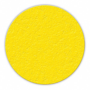 MARKER,YELLOW,3IN DIA.,CIRCLE SHAPE,PK25