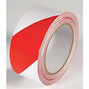 FLOOR TAPE,RED/WHITE,108 FT. L X 2 IN. W