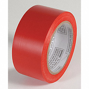 AISLE TAPE,RED,108 FT. L X 2 IN. W