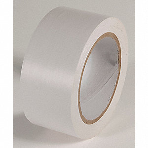 AISLE TAPE,WHITE,108 FT. L X 2 IN. W