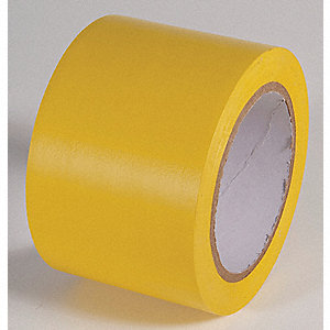 AISLE TAPE,YELLOW,108 FT. L X 3 IN. W