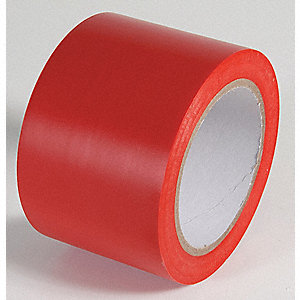 AISLE TAPE,RED,108 FT. L X 3 IN. W