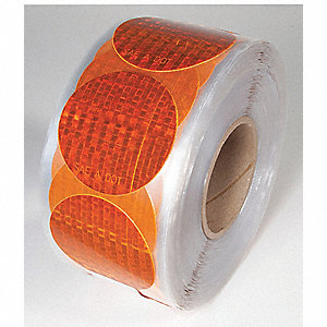 MARKING TAPE,AMBER,3 IN. DIA.,DOTS,RL50