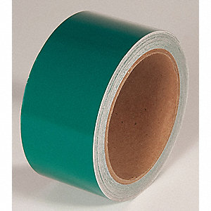 REFLECTIVE TAPE,GREEN,30 FT. L X 2 IN. W