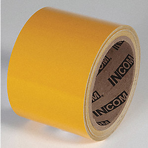 REFLECTIVE TAPE,YELLOW,30 FT L X 3 IN W