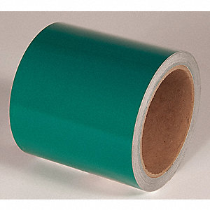 REFLECTIVE TAPE,GREEN,30 FT. L X 4 IN. W