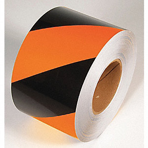 TAPE,BLACK/ORANGE,150 FT. L X 6 IN. W