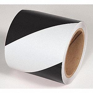 TAPE,BLACK/WHITE,150 FT. L X 4 IN. W