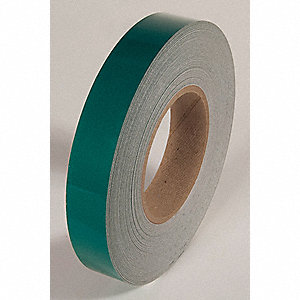REFLECTIVE TAPE,GREEN,150 FT L X 1 IN W