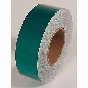 REFLECTIVE TAPE,GREEN,150 FT L X 2 IN W