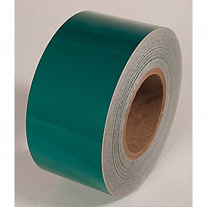 REFLECTIVE TAPE,GREEN,150 FT L X 3 IN W