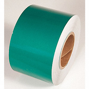 REFLECTIVE TAPE,GREEN,150 FT L X 6 IN W
