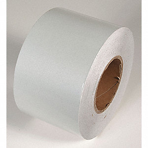 REFLECTIVE TAPE,WHITE,150 FT L X 4 IN W
