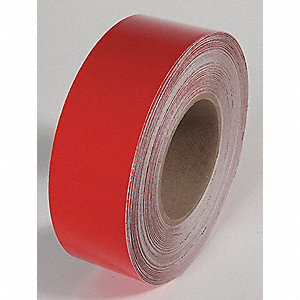 REFLECTIVE TAPE,RED,150 FT. L X 2 IN. W