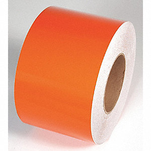 REFLECTIVE TAPE,ORANGE,150 FT L X 4 IN W