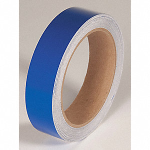 REFLECTIVE TAPE,BLUE,50 FT. L X 1 IN. W