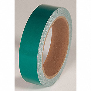 REFLECTIVE TAPE,GREEN,30 FT. L X 1 IN. W