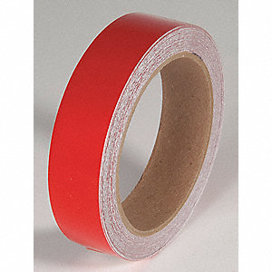 REFLECTIVE TAPE,RED,30 FT. L X 1 IN. W