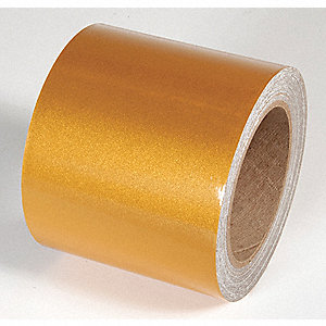 REFLECTIVE TAPE,GOLD,50 FT. L X 4 IN. W
