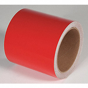 REFLECTIVE TAPE,RED,30 FT. L X 4 IN. W
