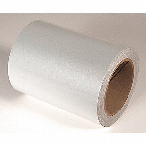 REFLECTIVE TAPE,WHITE,50 FT. L X 6 IN. W