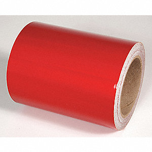 REFLECTIVE TAPE,RED,30 FT. L X 6 IN. W