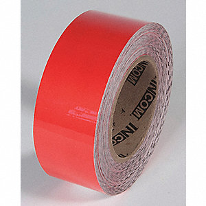FLOOR TAPE,RED,100FT L X 2IN W,SOLID