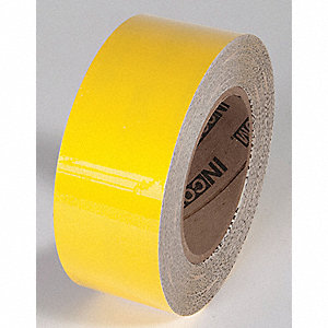FLOOR TAPE,YELLOW,100FT L X 2IN W,SOLID