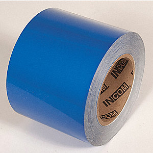 FLOOR TAPE,BLUE,100FT L X 4IN W,SOLID