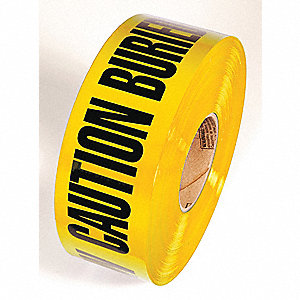 BARRICADE TAPE,YELLOW,1000FT L X 3IN W