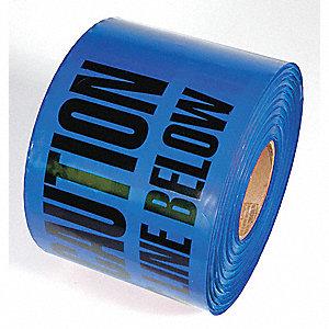 TAPE,BLUE,1000FT L X 6IN W,WATER LINE