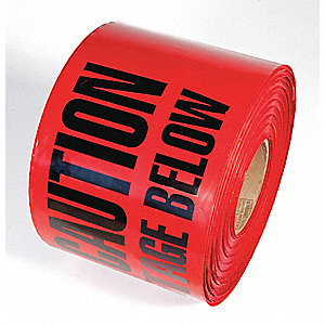 TAPE,RED,1000FT L X 6IN W,HIGH VOLTAGE