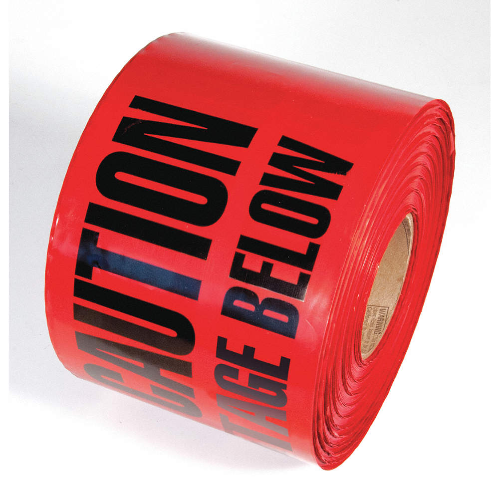 INCOM MANUFACTURING TAPE,RED,1000FT L X 6IN W,HIGH VOLTAGE