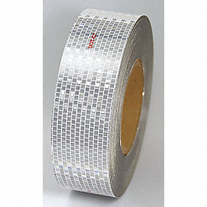 CONSPICUITY TAPE,WHITE,150FT L X 2IN W