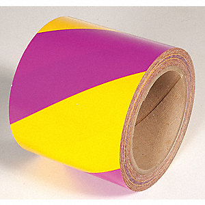 TAPE,YELLOW/MAGENTA,108FT L X 6IN W,PVC