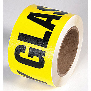 TAPE,YELLOW/BLACK,54FT L,SAFETY GLASSES