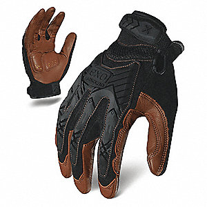 IMPACT MECHANICS GLOVE BLACK/BROWN M PR