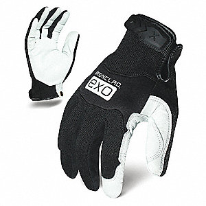 MECHANICS GLOVE S BLACK/WHITE LEATHER PR