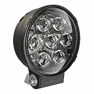 WORK LAMP,LED,BLACK,1080 LM,ROUND,2.15 A
